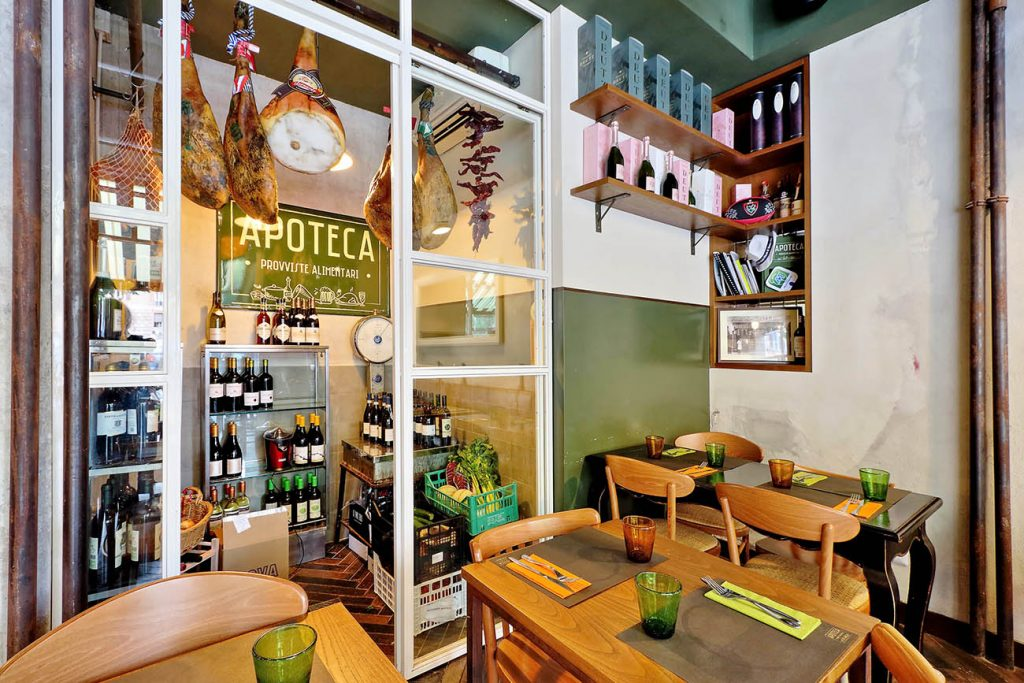 APOTECA brand identity arredamento ristoranti