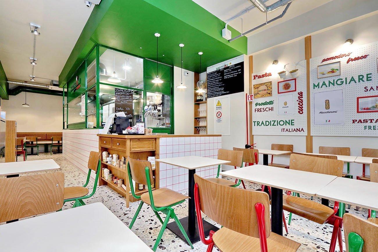 Maccheroni express franchising arredamento ristorante street food
