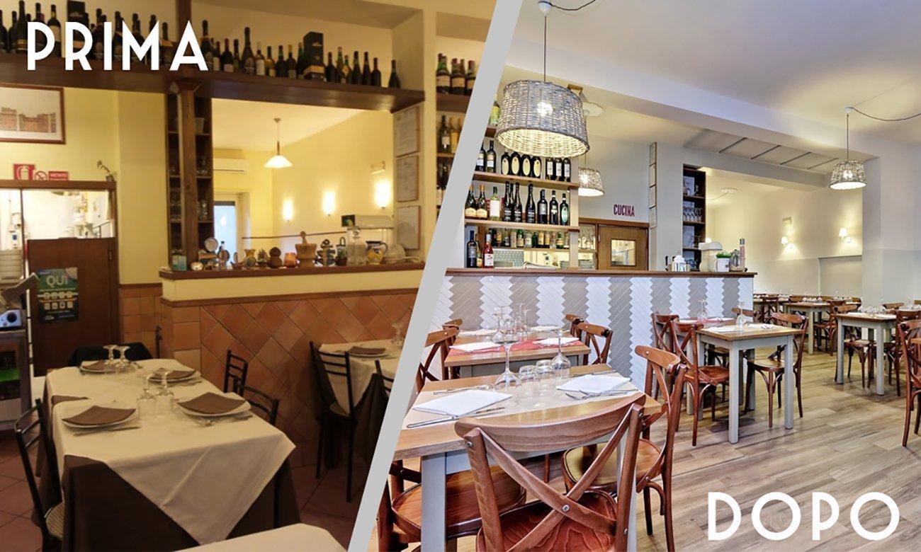 Er Pulentaro arredamento restyling ristorante